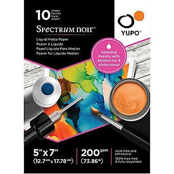 Spectrum Noir Yupo Liquid Media Papier 5 x 7 Zoll (10pcs) (SN-YU10-5X7S)