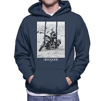 Mayans M.C. Motorcycle Club Ezekiel Reyes EZ Black And White Men's Hooded Sweatshirt