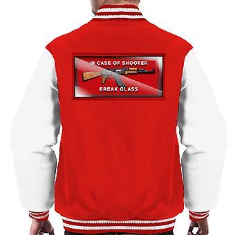 Break Glass For Defence Men's Varsity Jacket
