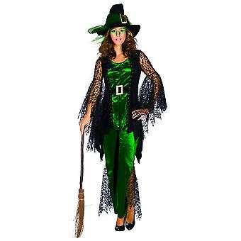 Spider Witch green dames de sorcière costume de conte d'araignée costume d'araignée