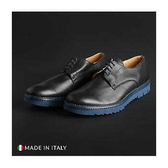 Italian Eagle - shoes - lace-up shoes - DERBY_L_VITELLO_BLU - men - navy - EU 41