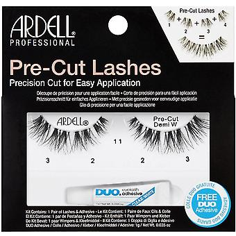 Ardell Pre-Cut False Eyelashes - Demi Wispies Black - Duo Adhesive Included