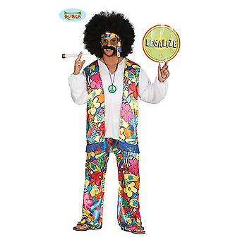 Guirca hippie fiore bambino 70 anni arcobaleno costume per adulti