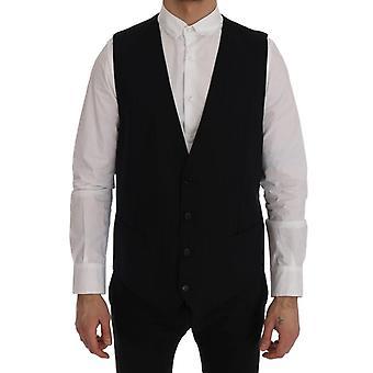 Dolce & Gabbana Musta Henkilökunta Villa Joustava Liivi SIG60379-1