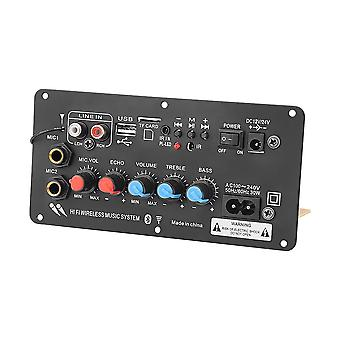 Subwoofer Digital Bluetooth Amplifier Board Dual Microphone Karaoke Amplifier Reverb 12v 24v 220v For 8-12 Inch Speaker (subwoofer Amplifier)