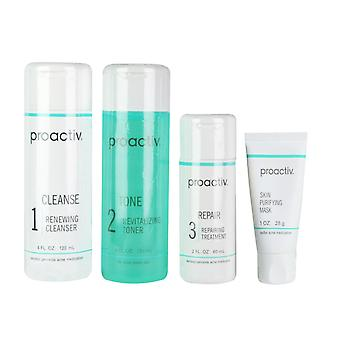 Proactive Set of 4 Acne Treatment Skin Smoothing Exfoliator Oil Control 60 Day