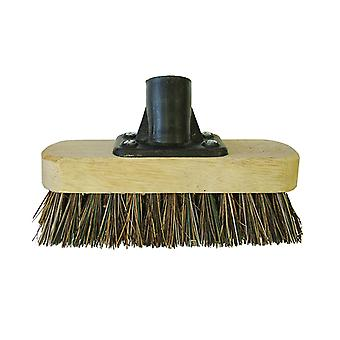 Faithfull Deck Scrub Broom Head 175mm (7in) Threaded Socket FAIBRDECKSCR
