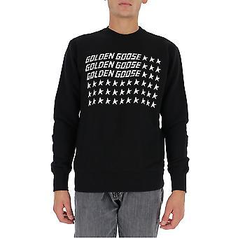 Golden Goose Gmp00472p00029990191 Herrar's Svart Bomull Sweatshirt