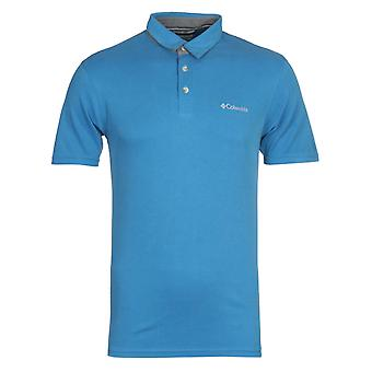 Columbia Nelson Point Blue Polo Shirt
