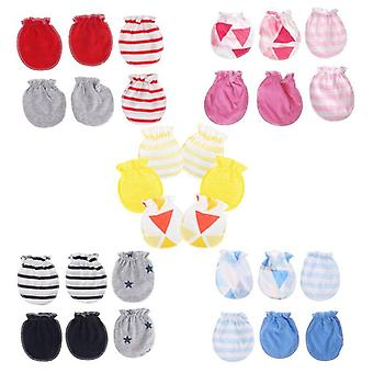 Fashion Baby Anti Scratching Gloves - Cotton Mittens For Newborn