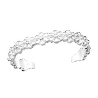 Květinový vzor - 925 Sterling Silver Prst prsteny - W20981x