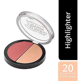 Max Factor Miracle Cheek Duo 11g - 20 Brown Peach & Champagne