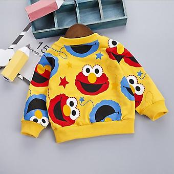Fashion Baby Pullover Autumn Cartoon Pattern Boys Sweatshirts- Newborn Soft Top
