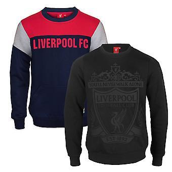 Liverpool FC offisielle fotball gave boys crest sweatshirt topp