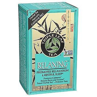 Triple Leaf Tea Relaxing Herbal Tea, 20 Bags