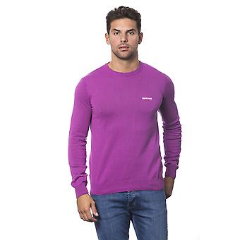 Roberto Cavalli Sport Fuchsia Purple Round Neck Long Sleeve Sweater