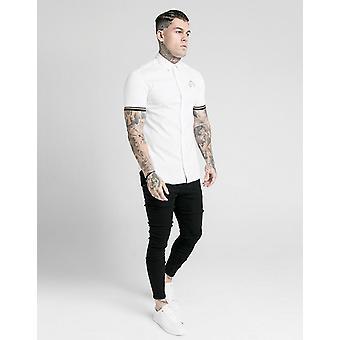 New SikSilk Men's Prestige Short Sleeve Shirt White