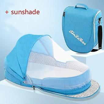 Multifunction Portable Baby Bed Travel Sun Protection Mosquito Cribs Breathable Mummy Bag