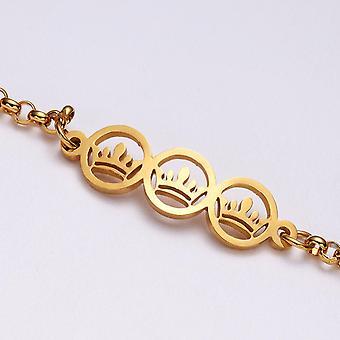 Vergulde armband met kronen perfecte gift kinderen vrouwen mannen
