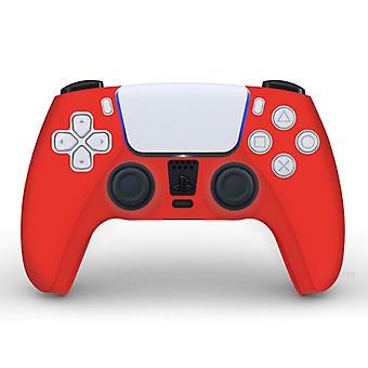 الاشياء المعتمدة® المضادة للانزلاق كم / الجلد لبلاي ستيشن 5 وحدة تحكم القضية - قبضة غطاء PS5 - أحمر