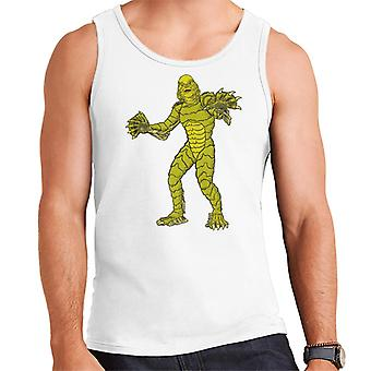 The Creature From The Black Lagoon Full Body Illustration Men's Vest