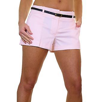 Mujeres's Cinturón Turn Up Sateen Shorts Smart Summer Sexy Hotpants 8-16