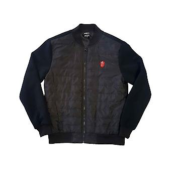 The Rolling Stones Quilted Jacket Classic Tongue Band Logo Officiella Black Unisex