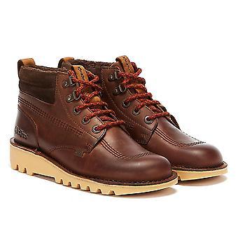 Kickers Kick Hi Winter Oily Mens Brown Boots