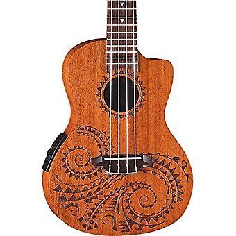 لونا الوشم الصوتية الكهربائية الحفل ukulele مع gigbag
