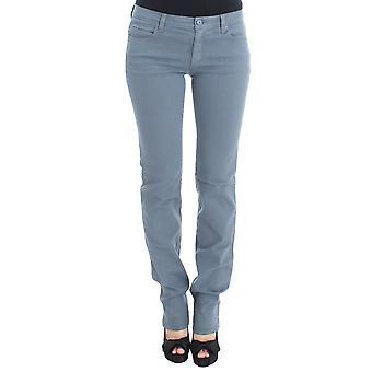 Blue cotton blend slim fit bootcut 97694295