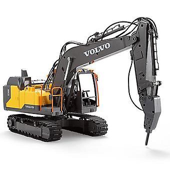 Remote Control Vehicle, Alloy Excavator 17ch Big Rc Trucks Simulation Excavator