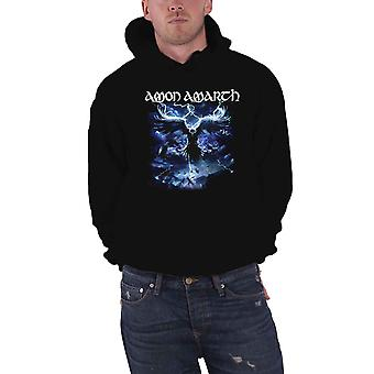 Amon Amarth Hoodie Ravens Flight Band Logo new Official Mens Black Pullover