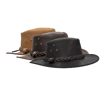 Walker and Hawkes - Leather Cowhide Braided Traveller Hat