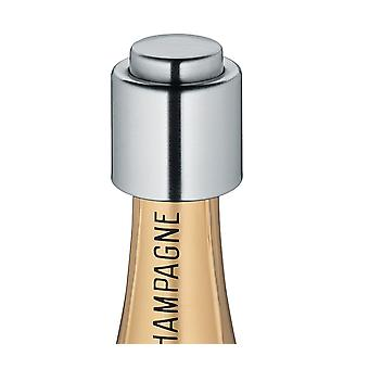 Stainless Steel Bottle Stopper Kitchen Sparkling Champagne Prosecco Wine Seal - Polished Finish - Silver