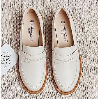 Frau Winter weiche Arbeit Oxfords Schnalle Chunky Ferse Schuhe