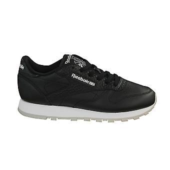 ريبوك كلاسيك الجلود ID الرجال المدربين الدانتيل حتى الأحذية أبيض أسود BD2154 D19
