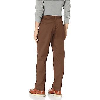 Essentials Män & s Standard Stain & Wrinkle-Resistant Classic Arbetsbyxa, Mörkbrun, 31W x 30L
