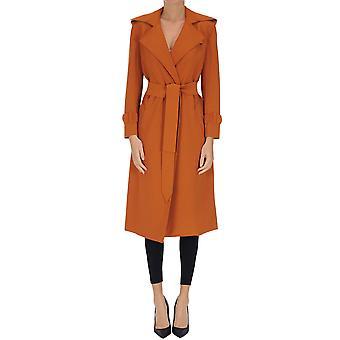 Norma Kamali Ezgl408018 Women's Bronze Polyester Coat