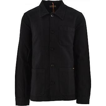 Nudie Jeans Black Barney Worker Jacket