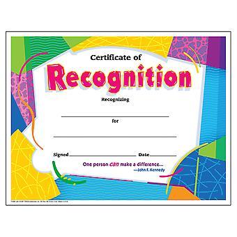 Certificado de Reconocimiento Colorido Clásicos Cert'S., 30 Ct