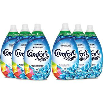 Comfort Intense Fresh Ultra Concentrated, Fabric Conditioner and Softener Liquid,Pack of 6 x 900ml