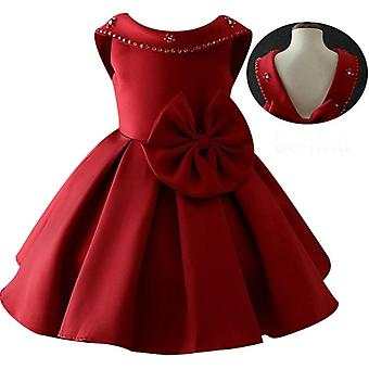 Little Kids Satin Stylish Communion Dresses Glitz Ball Gown Pageant Flowers