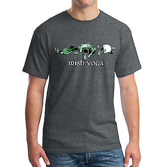 Humor Irish Yoga Men's Dark Heather T-shirt