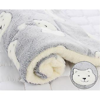 Thickened  Pet Soft Fleece Pad Pet Cat Bed Dog Bed Blanket Bed Mat Cushion Home Portable Washable Rug