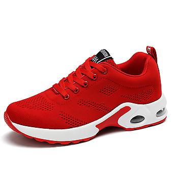Women's Air Cushion Sneakers Chaussures Rouges