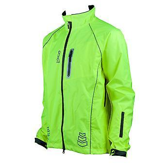 Eigo Delta-2 Nepremokavá cyklistická bunda Fluoro Žltá