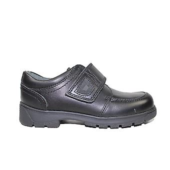 Startrite Accelerate Black Leather Boys Rip Tape School Shoes