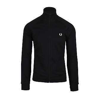 Fred Perry Tonal Tape Track Jacket Black