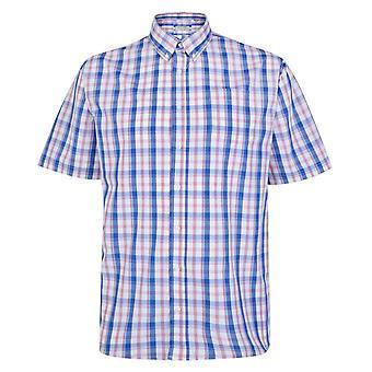 Carabou Blue & Red Check Short Sleeve Shirt
