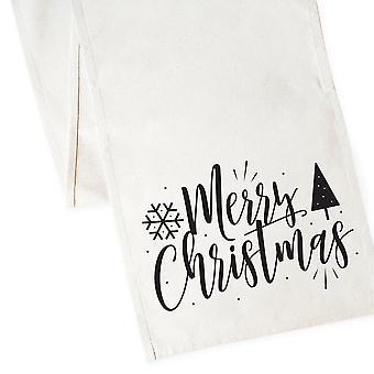 عيد ميلاد سعيد القطن قماش الجدول عداء